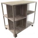 Wood Display Freddy, L120cm, T80cm, H120cm, white